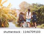 back to school. asian  pupil... | Shutterstock . vector #1146709103