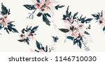 Stock vector seamless floral pattern with flowers 1146710030