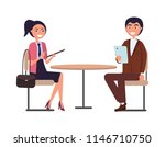 businessperson man and woman... | Shutterstock .eps vector #1146710750