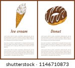 ice cream and chocolate donut... | Shutterstock .eps vector #1146710873
