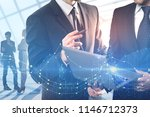 abstract image of businessmen... | Shutterstock . vector #1146712373