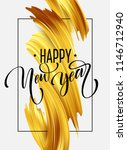 gold 2019 happy new year... | Shutterstock .eps vector #1146712940