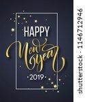2019 new year hand written...   Shutterstock .eps vector #1146712946