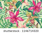 tropical seamless pattern... | Shutterstock . vector #1146714320