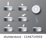 set of realistic tea candles... | Shutterstock .eps vector #1146714503