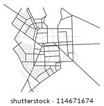 city map    scheme of roads | Shutterstock . vector #114671674