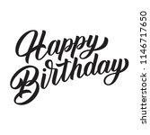 happy birthday brush hand...   Shutterstock .eps vector #1146717650