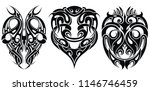 tattoo design elements.... | Shutterstock .eps vector #1146746459