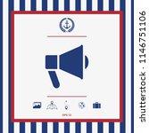 speaker  bullhorn icon | Shutterstock .eps vector #1146751106