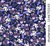 seamless pattern with blossom... | Shutterstock .eps vector #1146753143