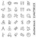 thin line vector icon set  ... | Shutterstock .eps vector #1146758123