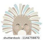 hedgehog baby cute print. sweet ... | Shutterstock .eps vector #1146758870