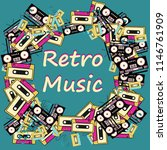 a retro music frame made from... | Shutterstock .eps vector #1146761909