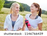 friends having fun and making... | Shutterstock . vector #1146766439