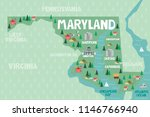 illustrated map of the state of ... | Shutterstock .eps vector #1146766940