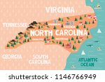 illustrated map of the state of ...   Shutterstock .eps vector #1146766949
