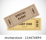 special old entrance tickets | Shutterstock .eps vector #114676894