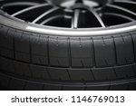 closeup of racing tyres | Shutterstock . vector #1146769013