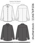 long sleeve shirts fashion flat ... | Shutterstock .eps vector #1146769106