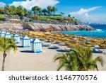 el duque beach at costa adeje.... | Shutterstock . vector #1146770576