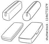 vector set of pencil case | Shutterstock .eps vector #1146772379