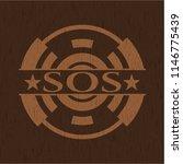 sos wooden emblem. retro | Shutterstock .eps vector #1146775439
