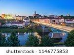cityscape of grodno at dusk... | Shutterstock . vector #1146775853