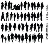 people black color silhouette... | Shutterstock .eps vector #114677833