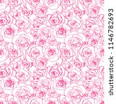 beautiful pink outline rosebuds ... | Shutterstock .eps vector #1146782693