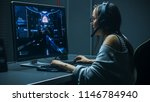 beautiful professional gamer... | Shutterstock . vector #1146784940