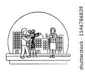 grunge professional cameraman... | Shutterstock .eps vector #1146786839