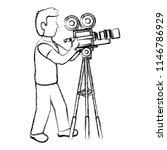 grunge professional cameraman... | Shutterstock .eps vector #1146786929
