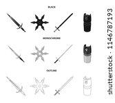 sword  two handed sword  gas... | Shutterstock .eps vector #1146787193
