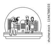 line cameraman camcorder film... | Shutterstock .eps vector #1146788033
