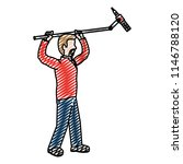 doodle cute cameraman with... | Shutterstock .eps vector #1146788120