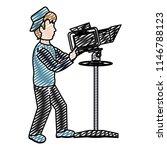 doodle professional cameraman... | Shutterstock .eps vector #1146788123