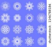 vector ornamental line pattern. ... | Shutterstock .eps vector #1146788186