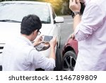 male driver take pictures of... | Shutterstock . vector #1146789809