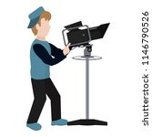 professional cameraman with... | Shutterstock .eps vector #1146790526