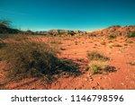 desert landscape. dry river bed ... | Shutterstock . vector #1146798596