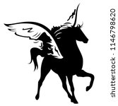winged horse vector design  ... | Shutterstock .eps vector #1146798620