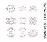 set of floral frames. wedding... | Shutterstock .eps vector #1146798890