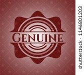 genuine retro red emblem | Shutterstock .eps vector #1146801203