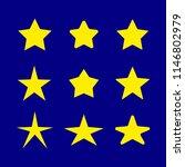 vector set of stars  yellow...