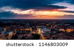 timisoara downtown aerial view  ... | Shutterstock . vector #1146803009
