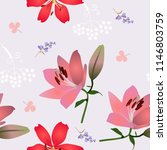 seamless floral print for... | Shutterstock .eps vector #1146803759