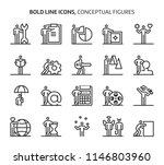 conceptual figures  bold line... | Shutterstock .eps vector #1146803960