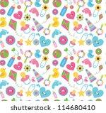 cute baby pattern design....   Shutterstock .eps vector #114680410