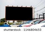 black empty billboard with... | Shutterstock . vector #1146804653