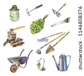 garden or garage instruments or ... | Shutterstock . vector #1146808376